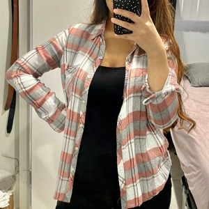 Tops - 6/$20!!! Stripped/checkered Flannel